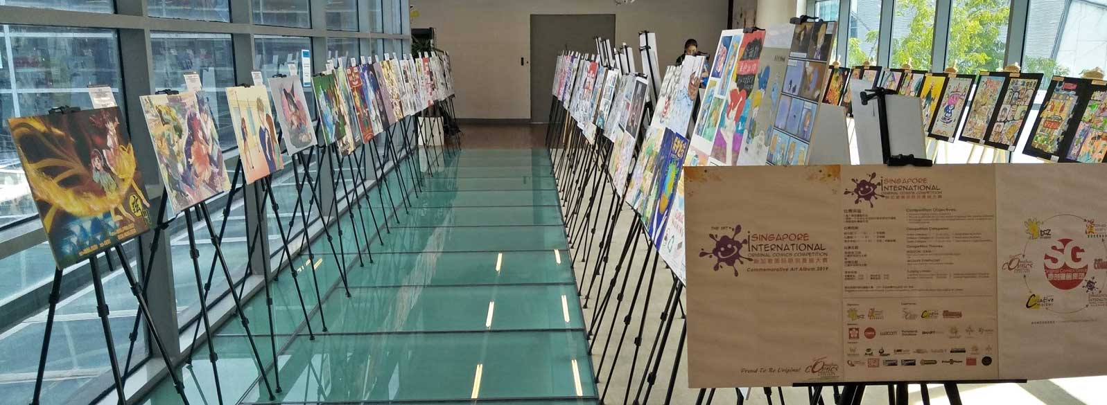 1 month-long Original art exhibition @ Jurong Regional Library Level 4 Sky Bridge.