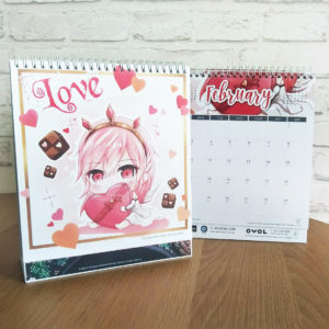 A Deal With Lucifer Chibi Art 2020 Calendar