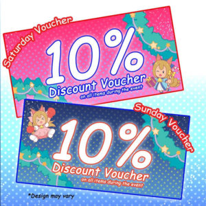 10% Discount on all items during event day